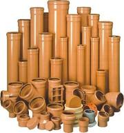 Трубы ПВХ и фитинги для наружной канализации Тернополь